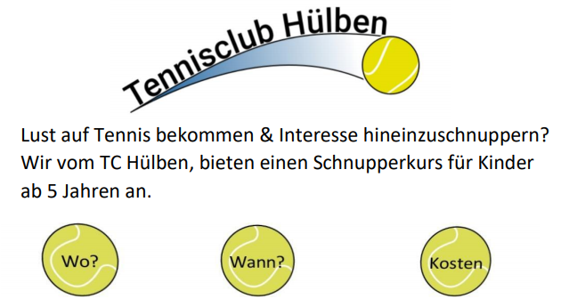 Schnuppertraining Website