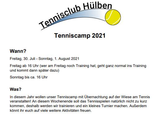 Tenniscamp_Ausschreibung
